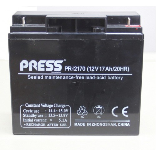 Batería de gel de 12V, 17 Amp - PR12170 - Press