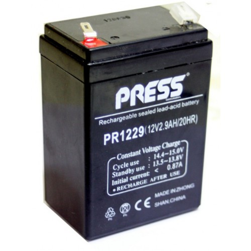 Batería de gel de 12 V, 2.9 Amp - PR1229 - Press