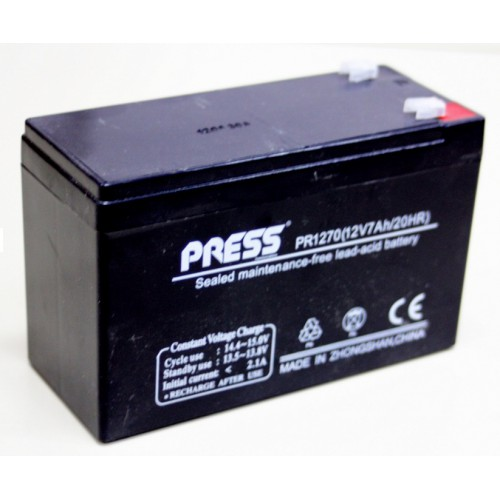 Batería de gel de 12 V, 7 Amp - PR1270 - Press