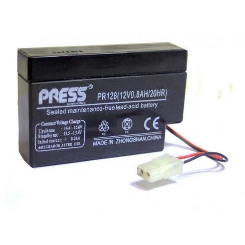 Batería de gel de 12 V, 0.8 Amp - PR128 - Press