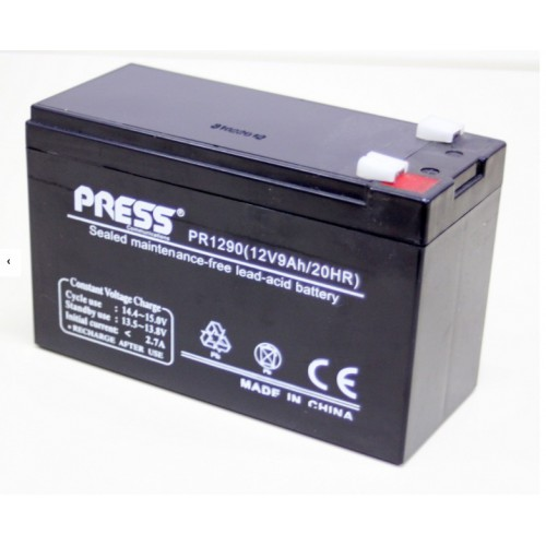 Batería de gel de 12 V, 9 Amp - PR1290 - Press