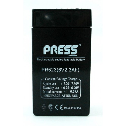 Batería de gel de 6 V, 2.3 Amp - PR623 - Press