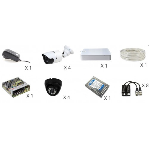 DVR kit con 8 cámaras - Pronext